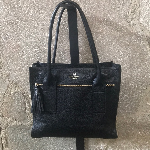 Black Leather Kate Spade Purse ♠️